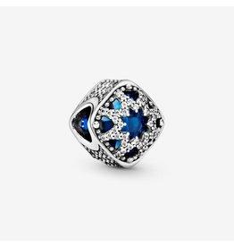 Pandora Pandora Charm Glacial Beauty, Swiss Blue Crystal & Clear CZ