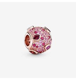 Pandora Pandora Kiss Pave, Red CZ Pink Synthetic Sapphire & Crystal