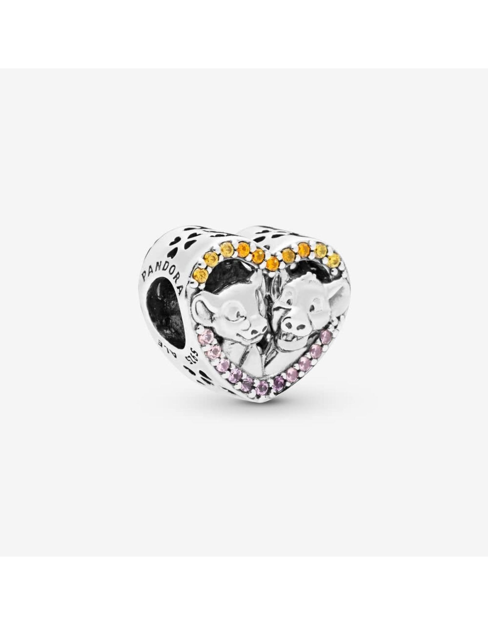Pandora Pandora Charm, Disney, Sparkling Simba & Nala Heart