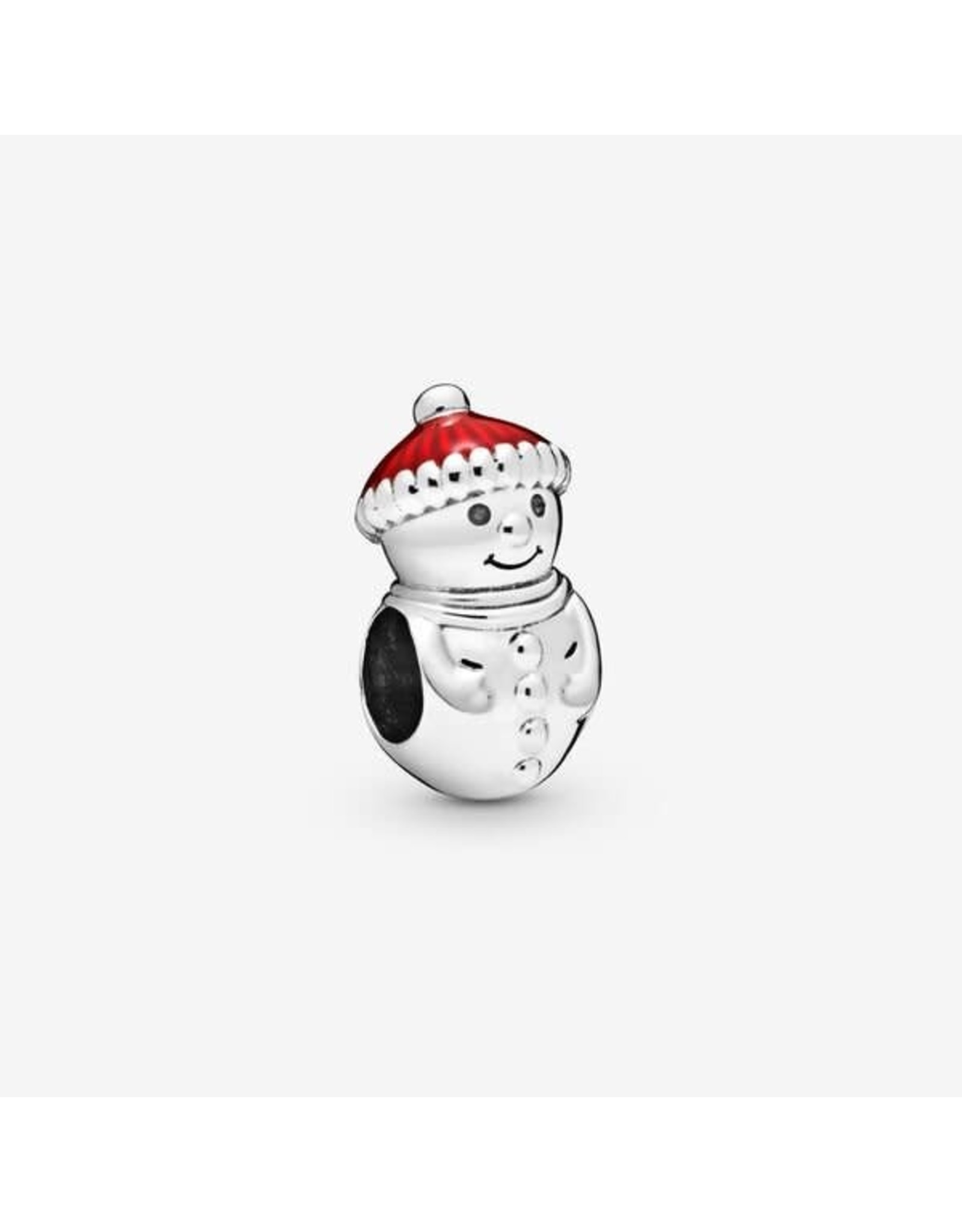 Pandora Pandora Charm Snowman & Christmas Hat ,Red Enamel
