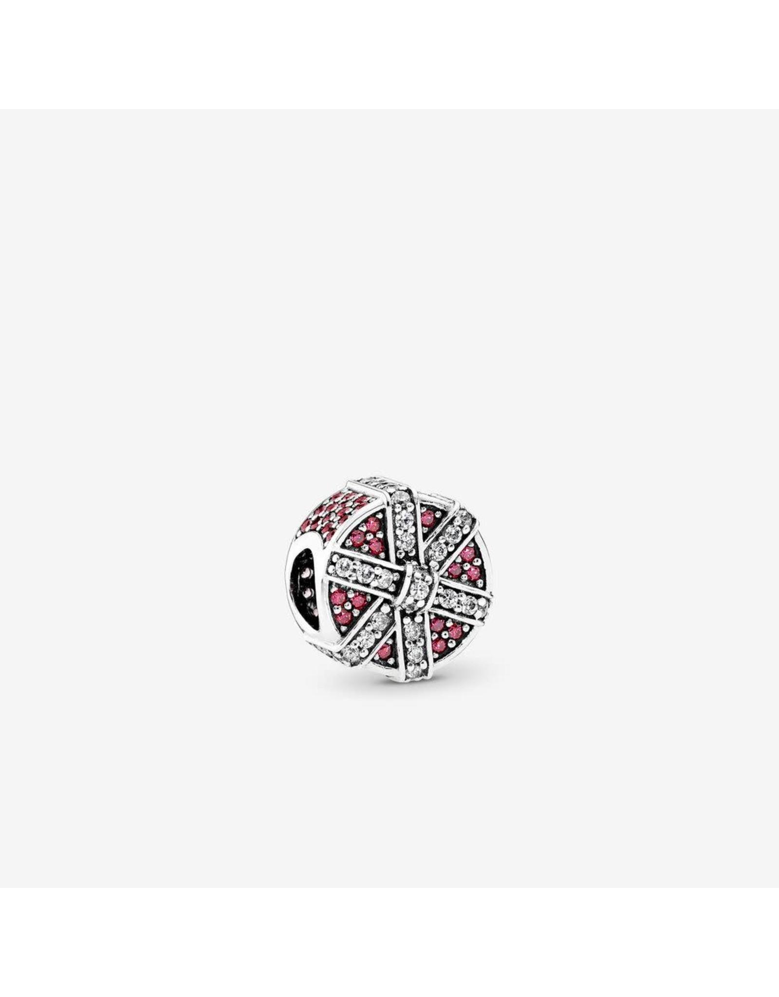 Pandora Pandora Charm, Shimmering Gift, Red & Clear CZ