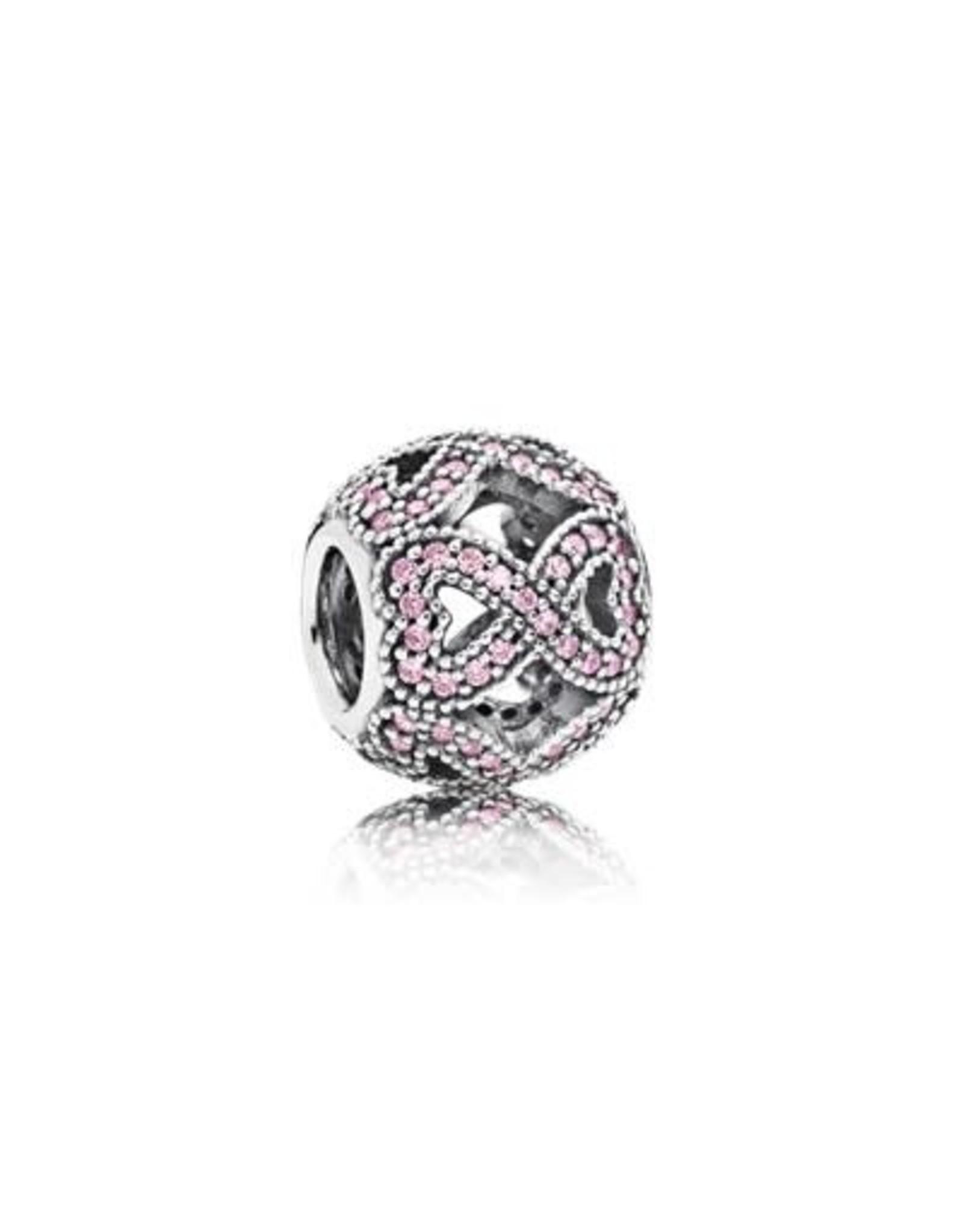 Pandora Pandora Infinity  Sterling Silver & Pink CZ