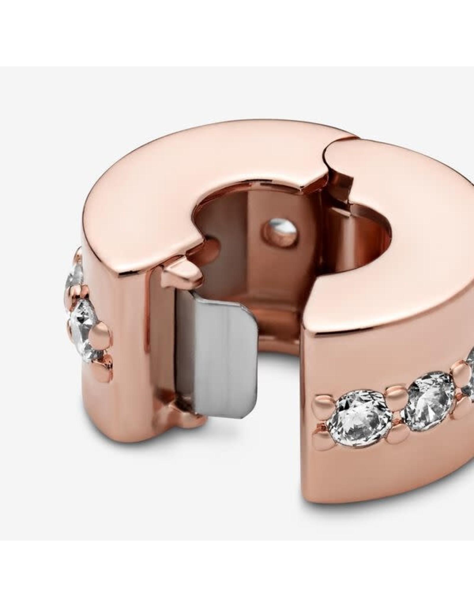 Pandora Pandora Clip, Rose Gold, Shinning Path, Clear CZ