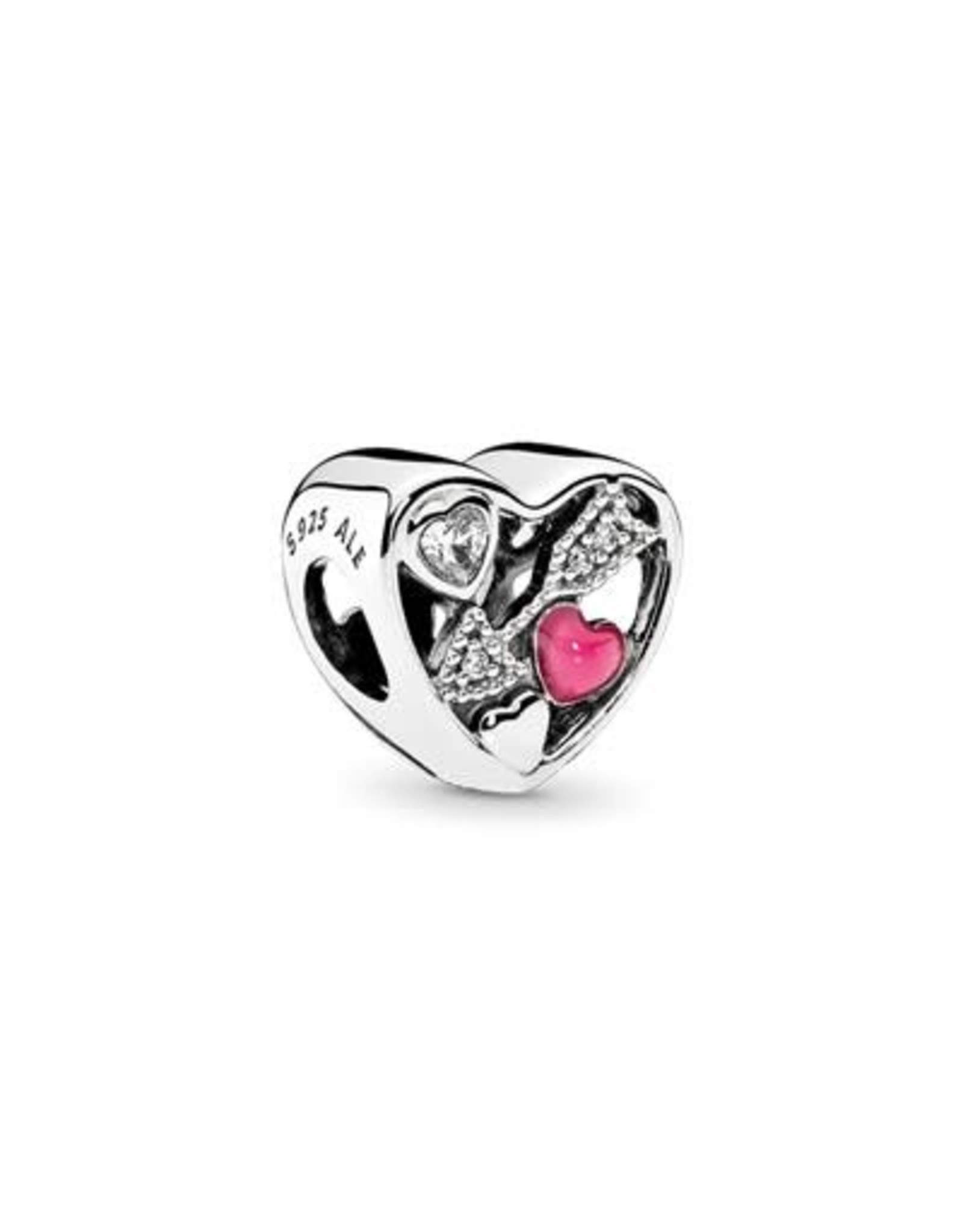 Pandora Pandora Struck Of Love, Magenta Enamel & Clear Cz