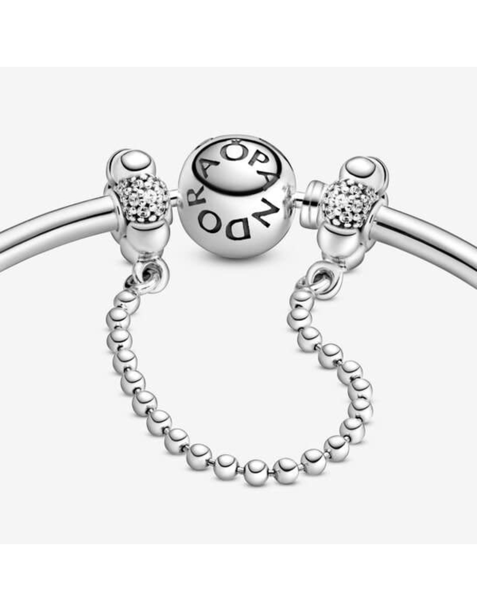 Pandora Pandora Safety Chain, Beads & Pave, Clear CZ