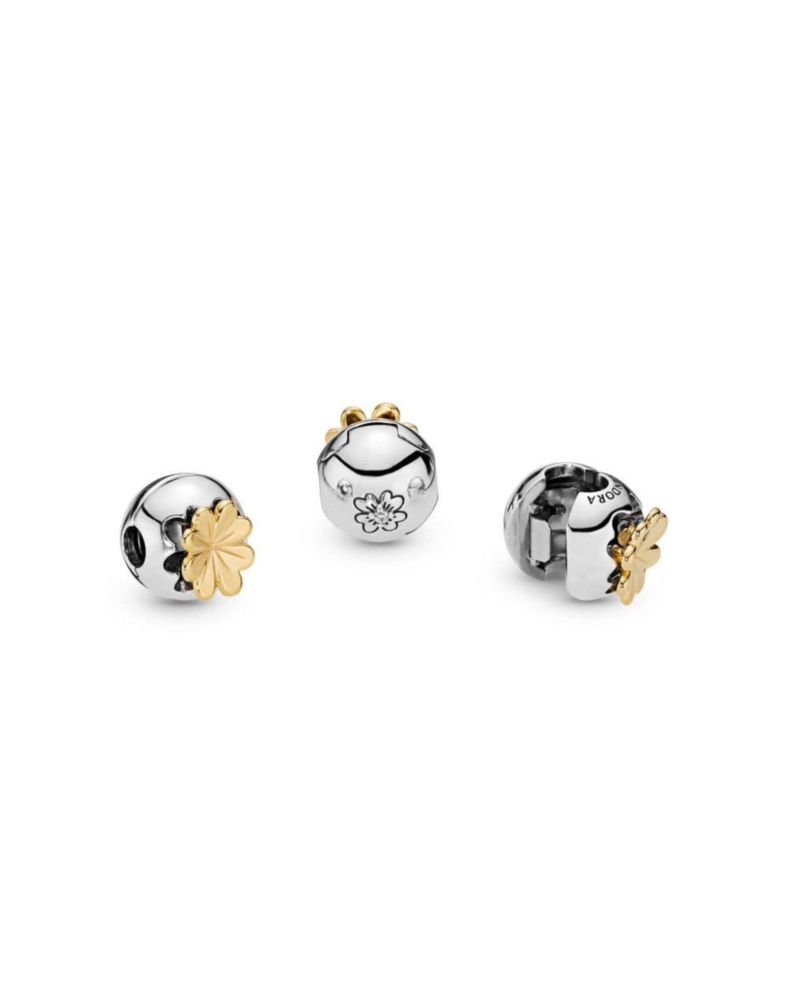 Pandora Pandora Clip, Shine & Silver, Shining Clover, Clear CZ