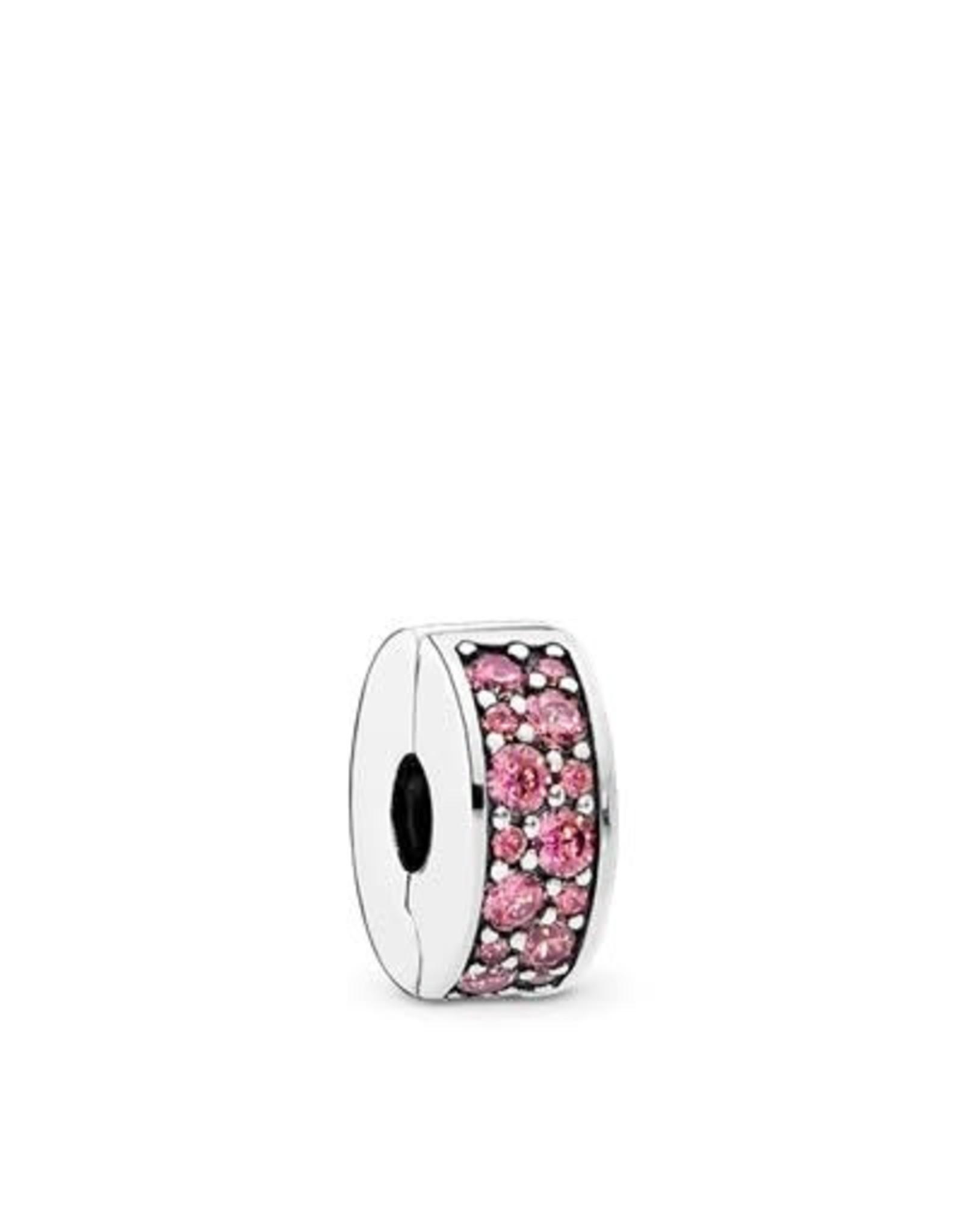 Pandora Pandora Clip Shining Elegance, Honeysuckle Pink,CZ