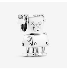 Pandora Pandora Charm, Bobby Bot, White Enamel