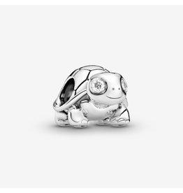 Pandora Pandora Charm, Bright-Eyed Turtle, Clear CZ
