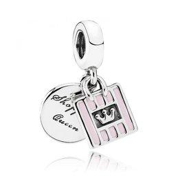 Pandora Pandora Charm, Shopping Queen, Pink Enamel