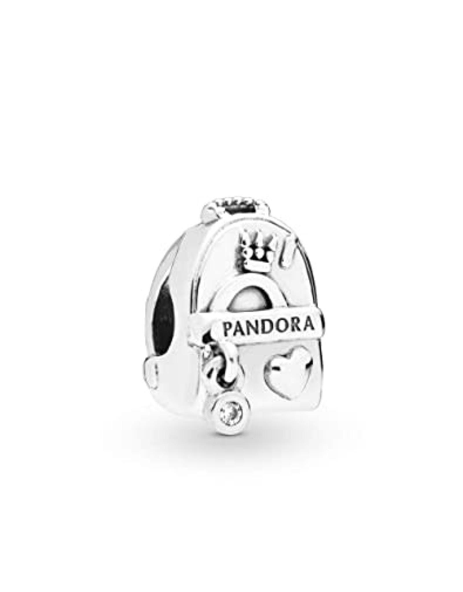Pandora Pandora Charm, Adventure Bag, Clear CZ