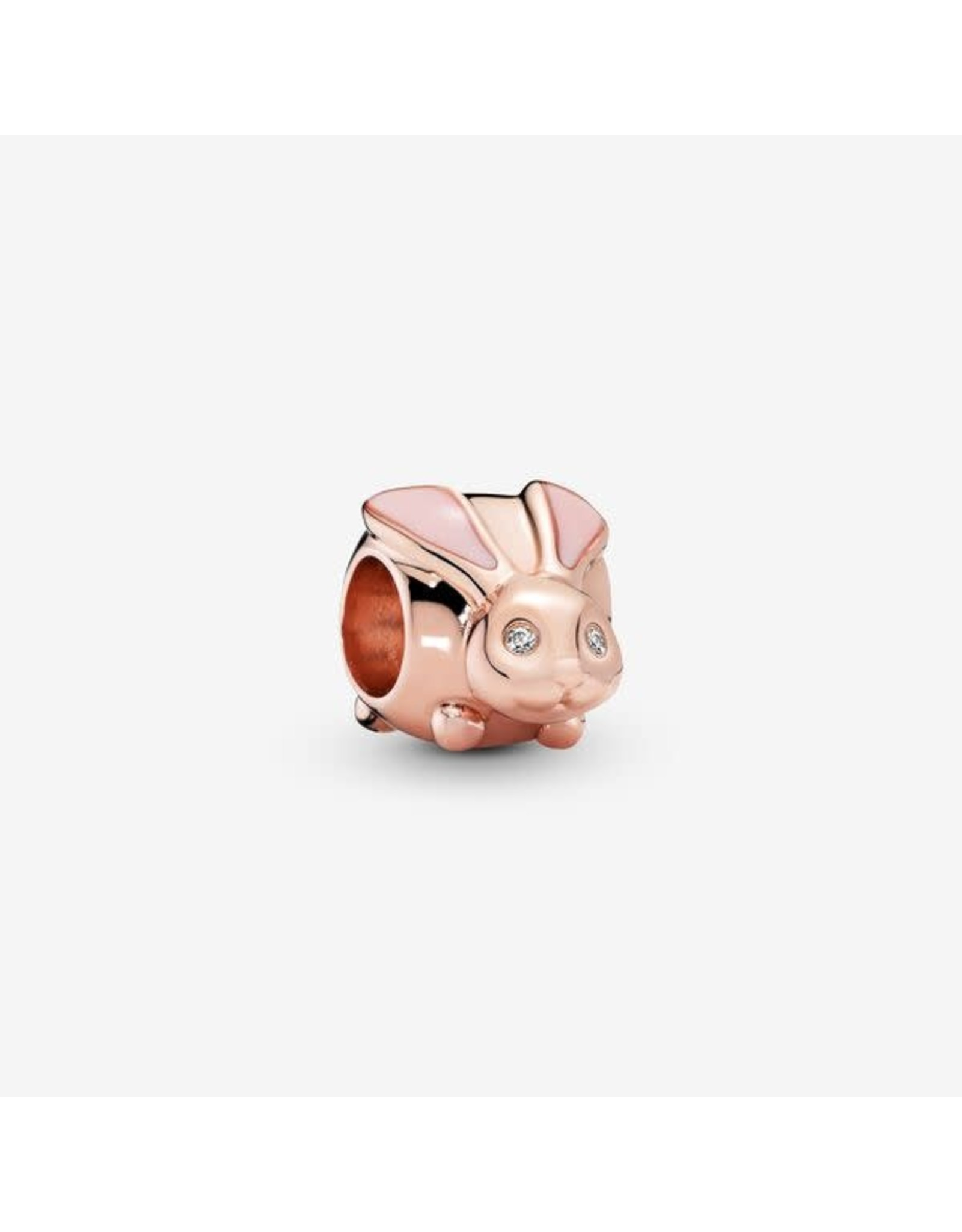Pandora Pandora Charm,787061EN160, Rose Gold,Cute Bunny, Pink Enamel & Clear CZ