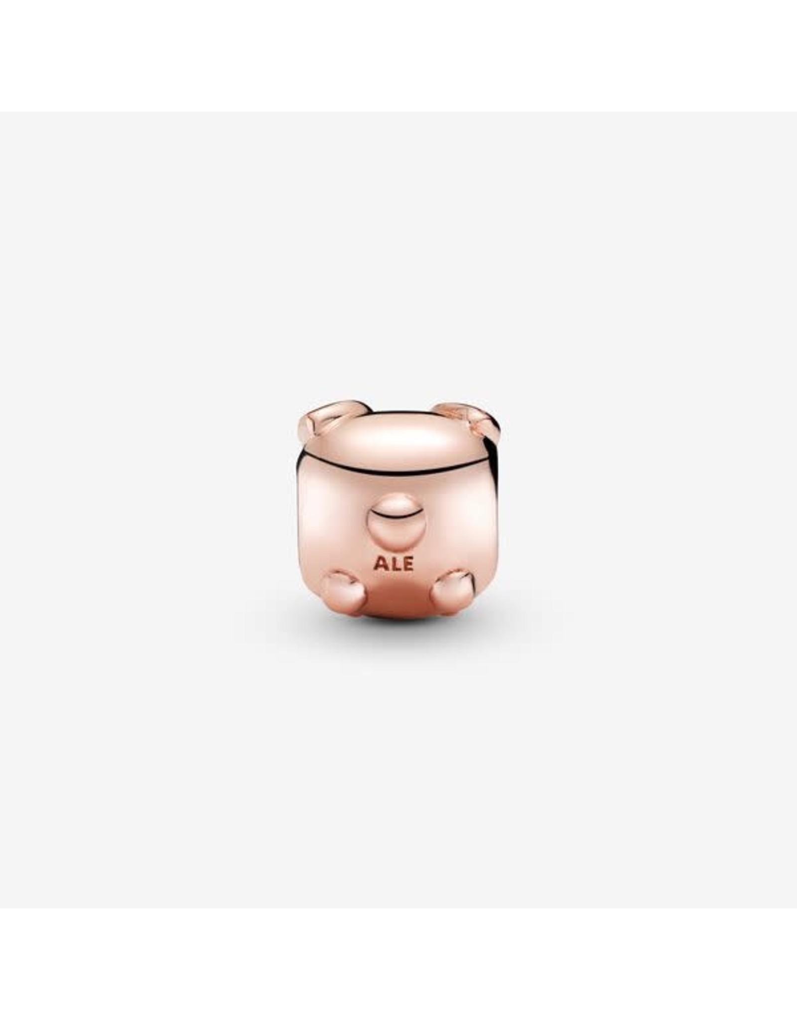 Pandora Pandora Charm, Rose Gold,Cute Bunny, Pink Enamel & Clear CZ
