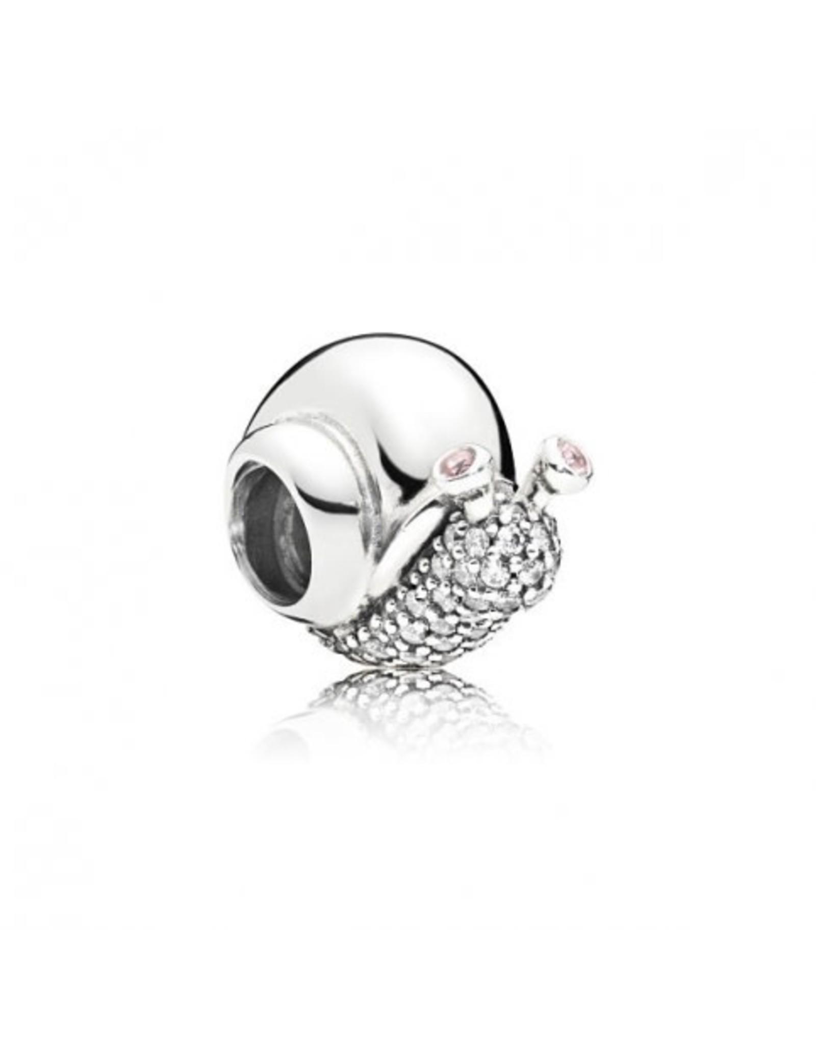 Pandora Pandora Charm, Sparkling Snail, Orchid Pink Crystals & Clear CZ
