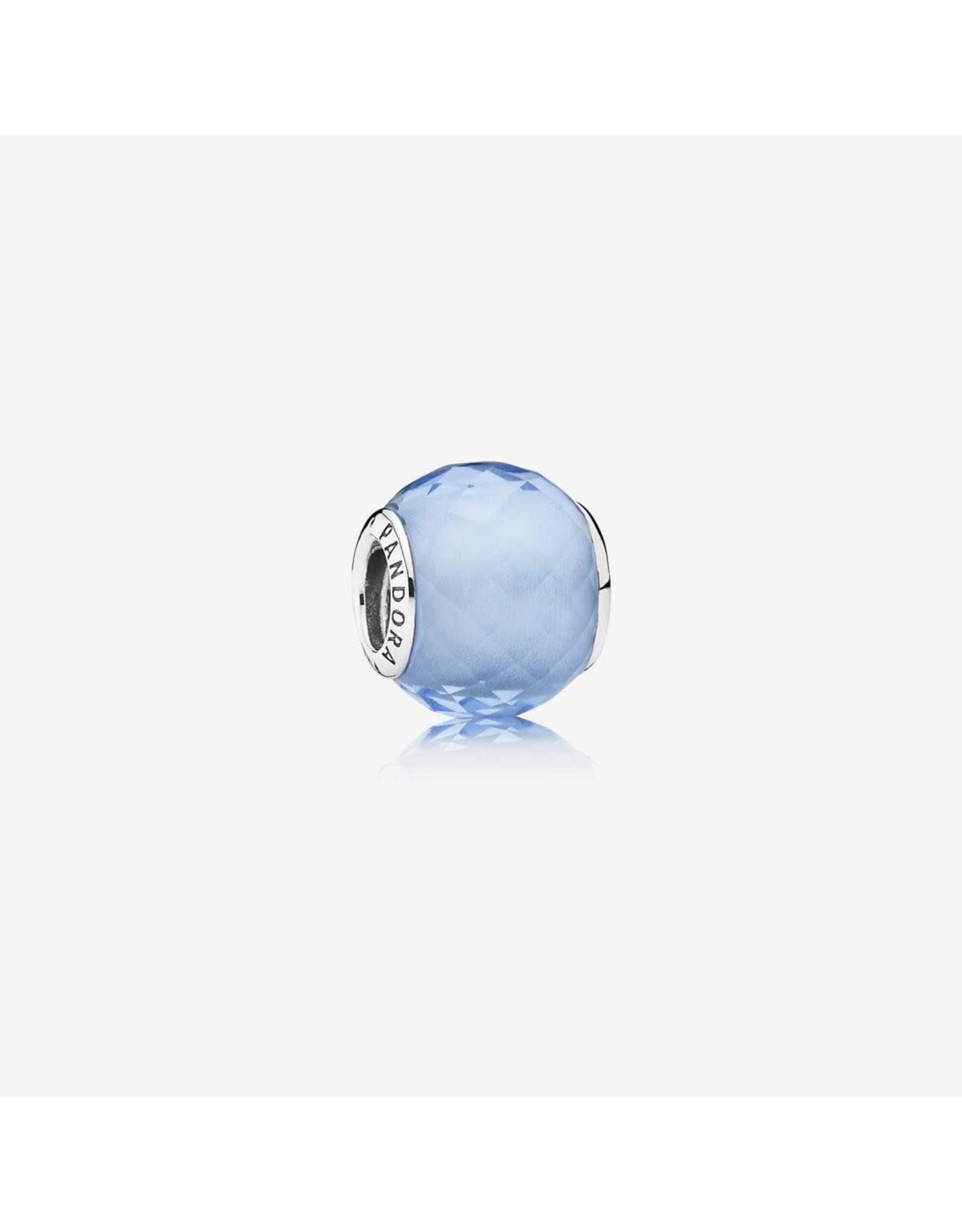 Pandora Pandora Charm, Petite Facets, Synthetic Blue Quartz