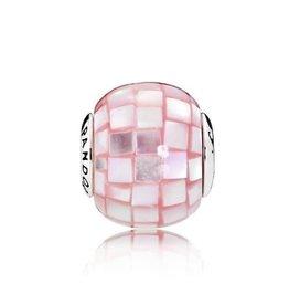 Pandora Pandora Essence Charm,Compassion Mother Of Pearl Pink Mosaic