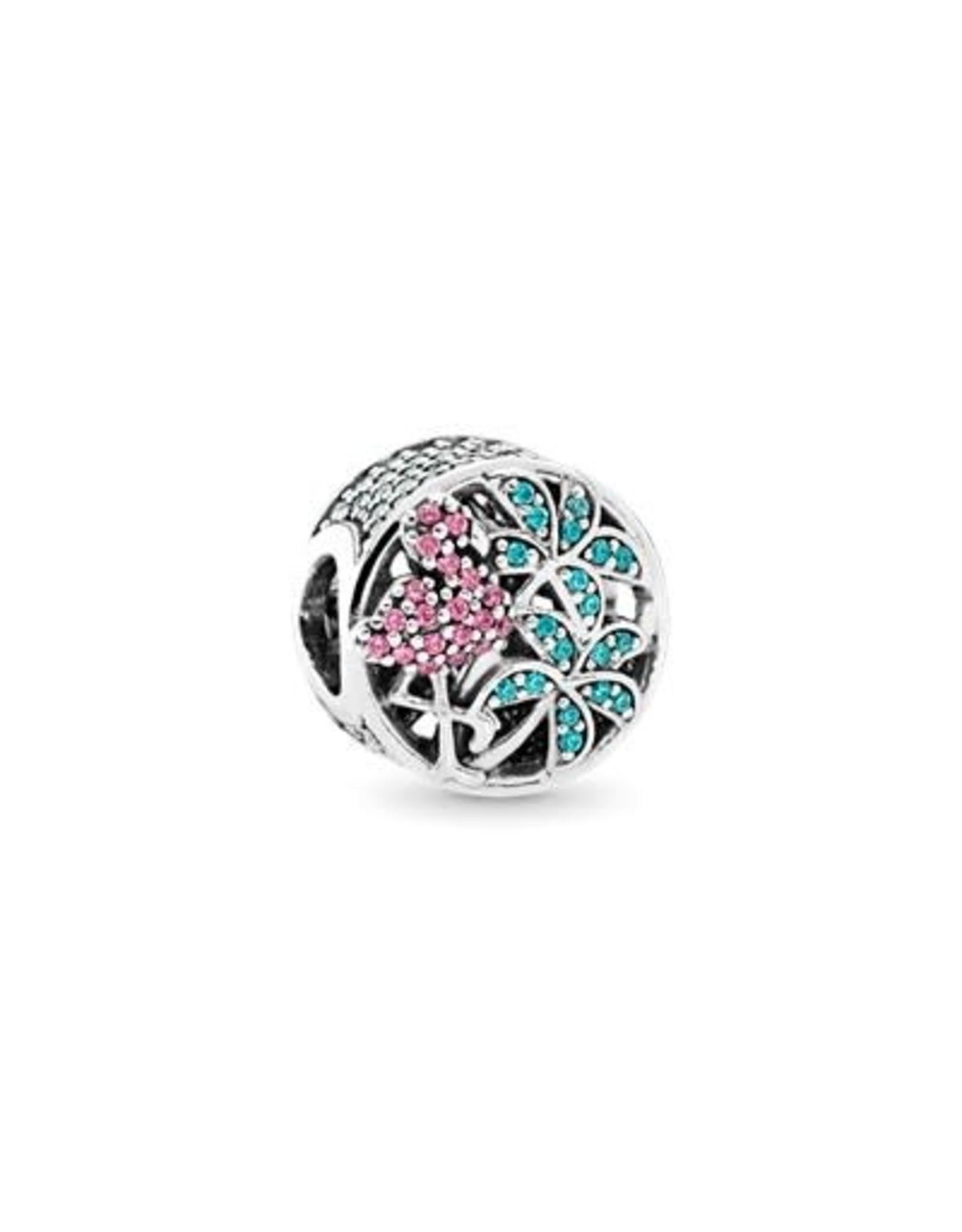 Pandora Pandora Charm, Tropical Flamingo, Light Green Crystals & Multi-Coloured CZ