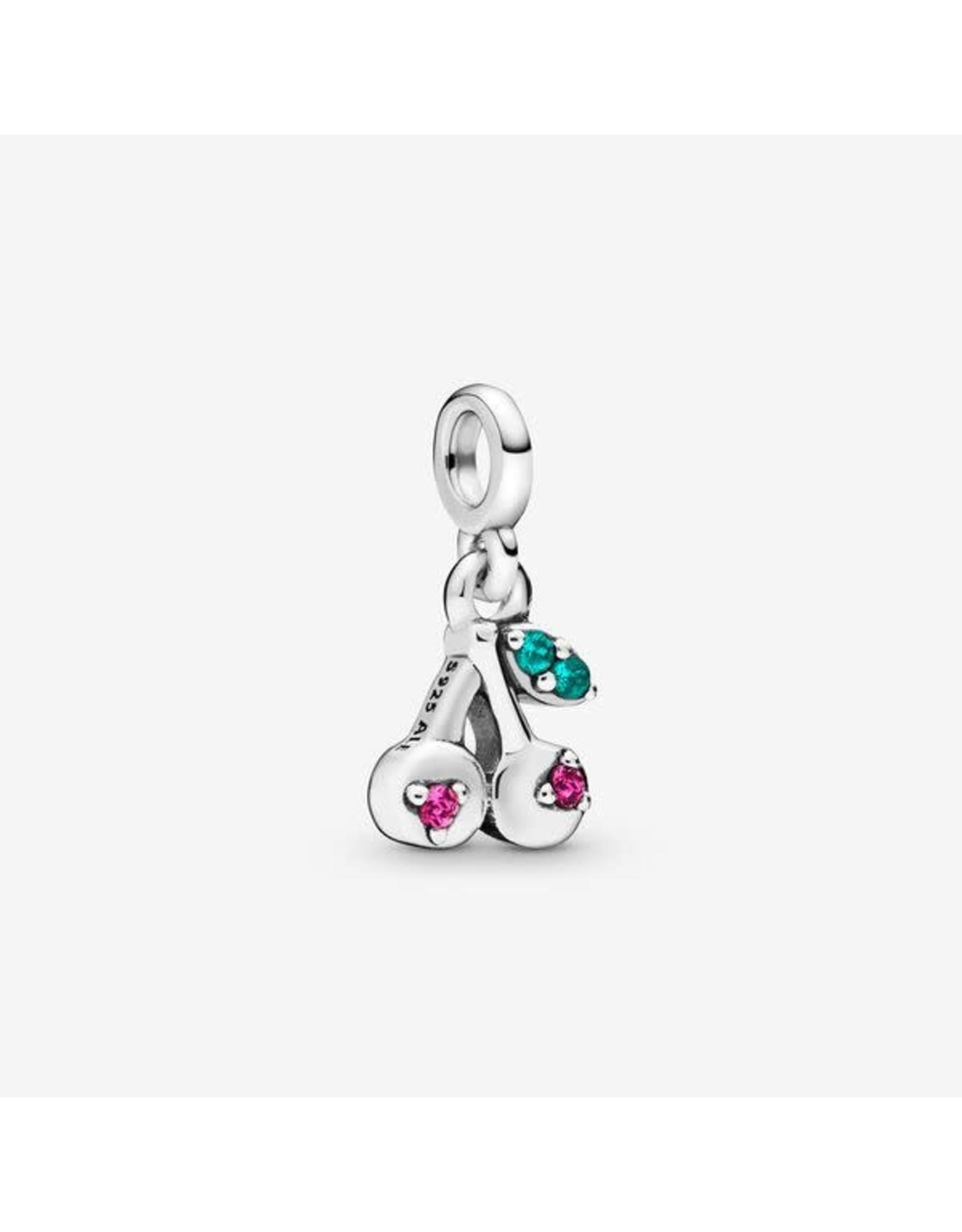 Pandora Pandora Me Charm, My Cherry, Cerise & Green Crystal