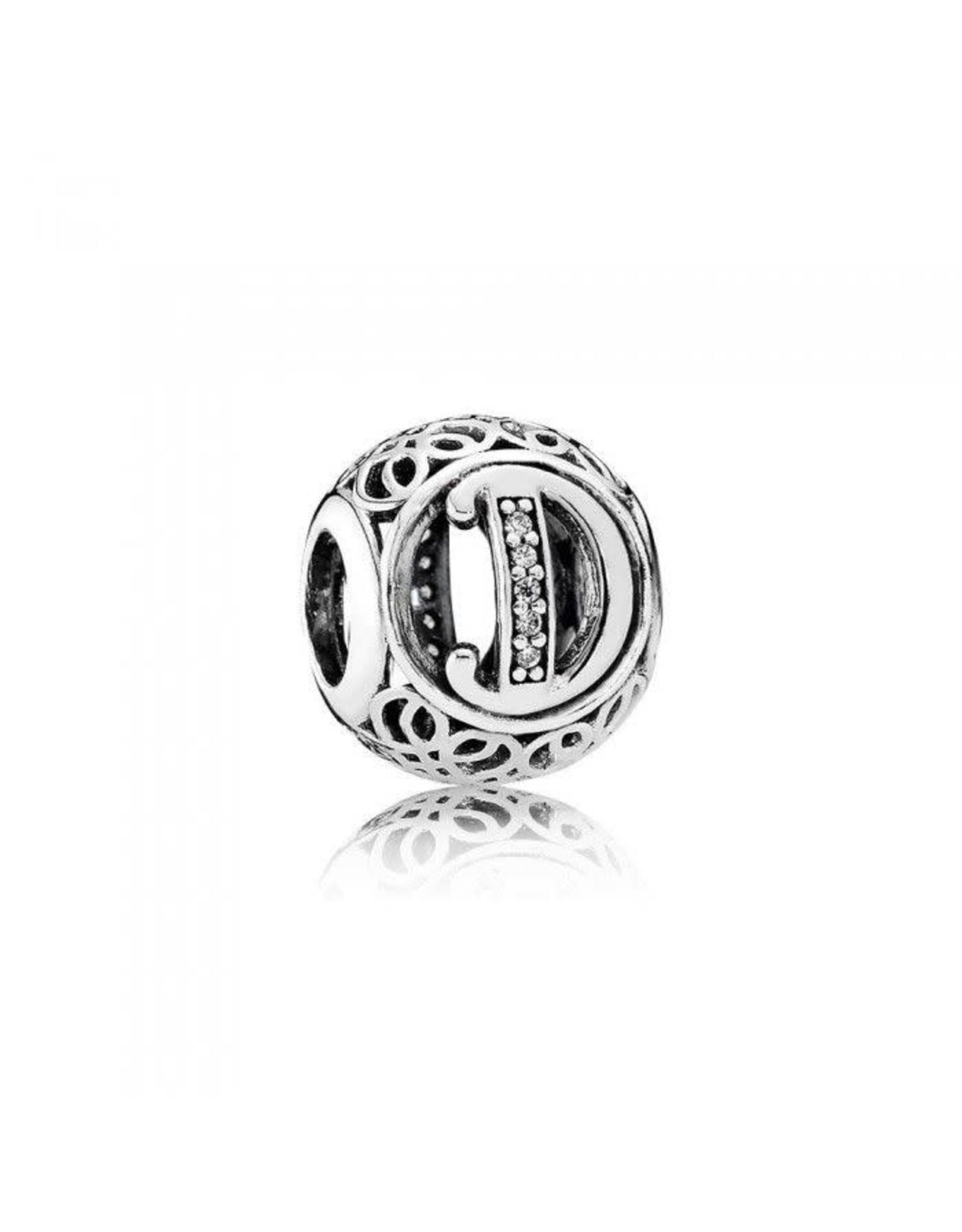 Pandora Pandora Charm, Letter D,Clear CZ