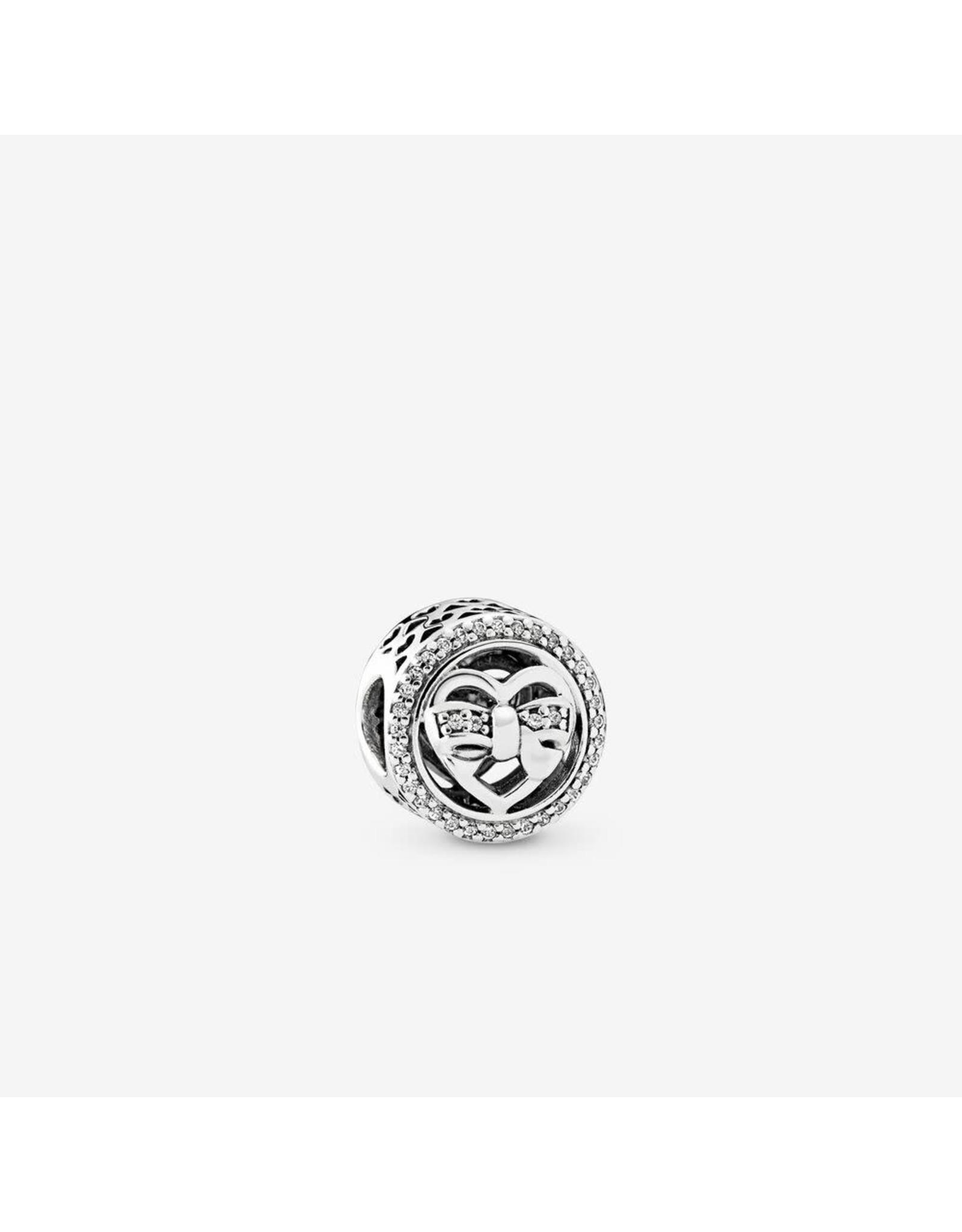 Pandora Pandora Charm, Heart Sterling Silver,Clear CZ