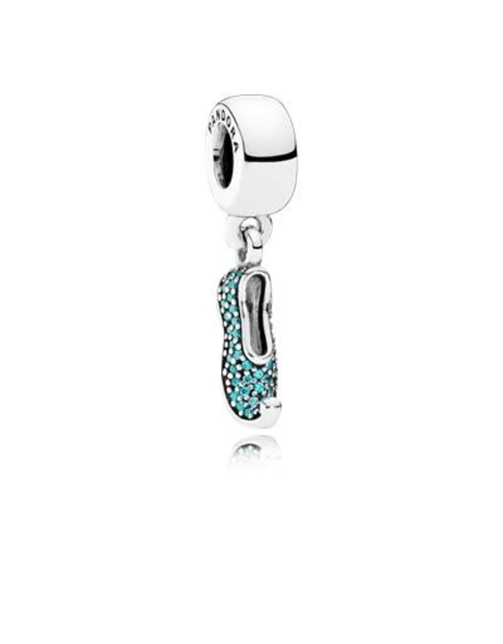 Pandora Pandora Charm, Disney, Jasmine's Sparkling Slipper