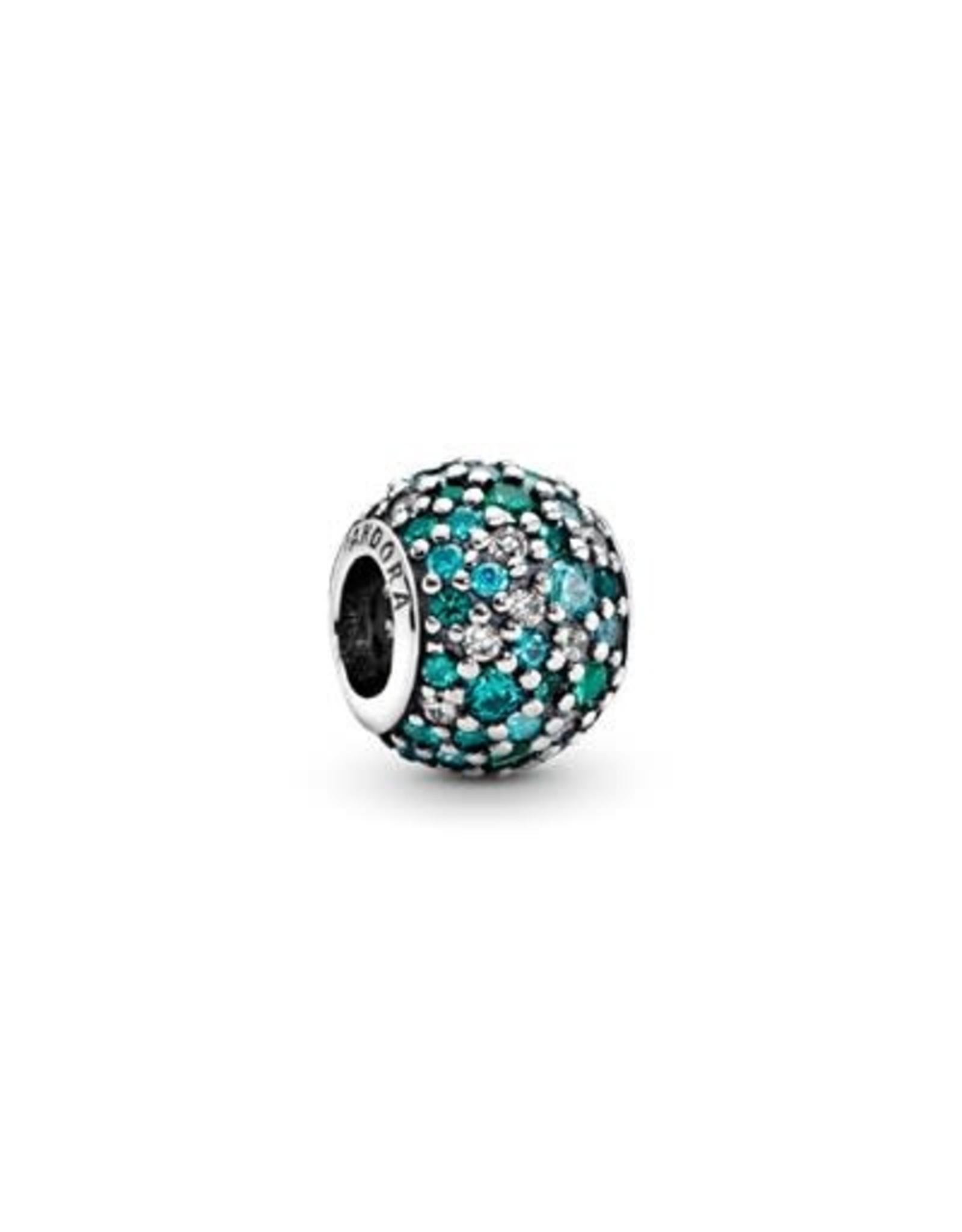 Pandora Pandora Charm,Ocean Mosaic Pave, Mixed Green CZ & Green Crystal