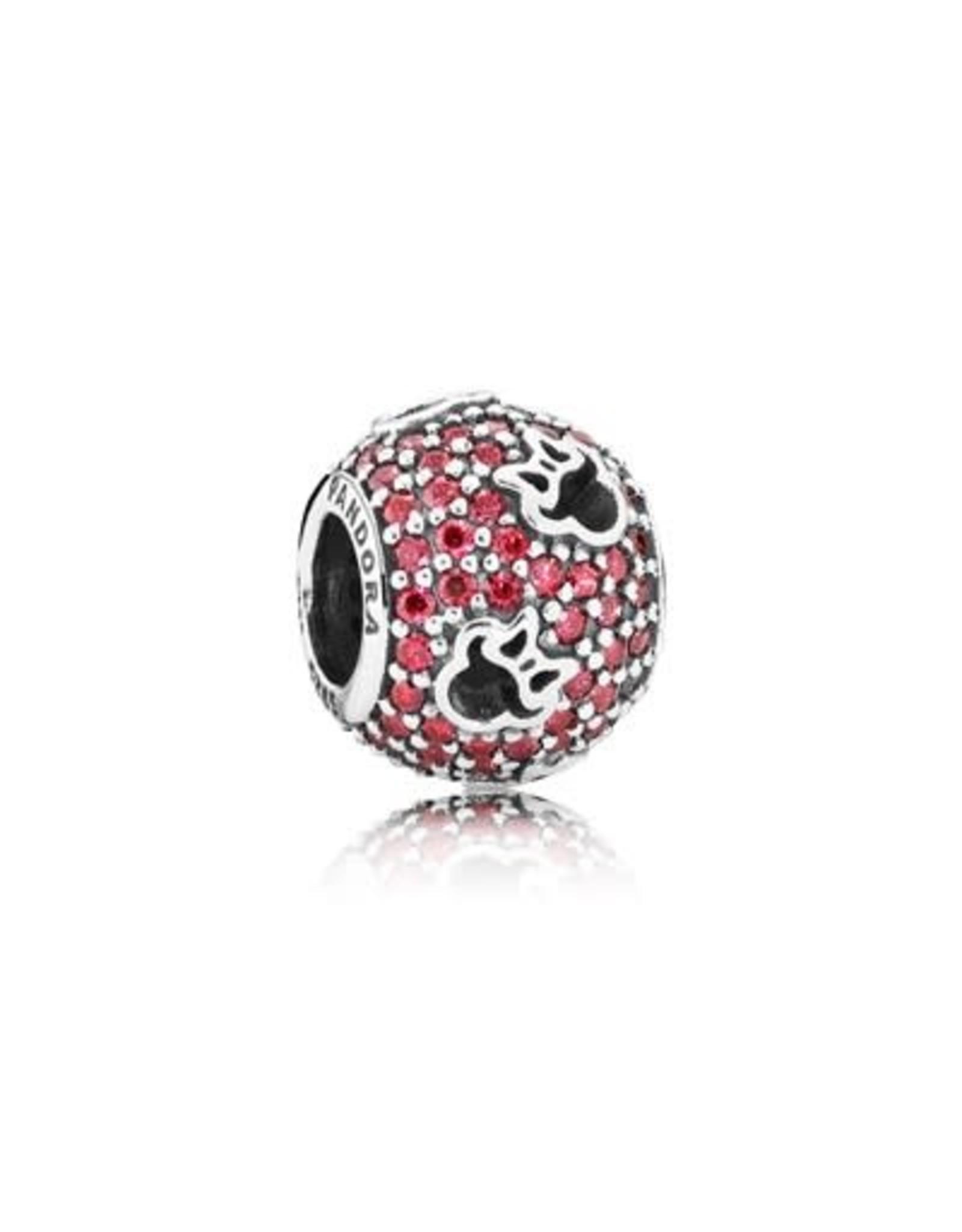 Pandora Pandora Charm, Disney, Minnie Silhouettes, Pink CZ