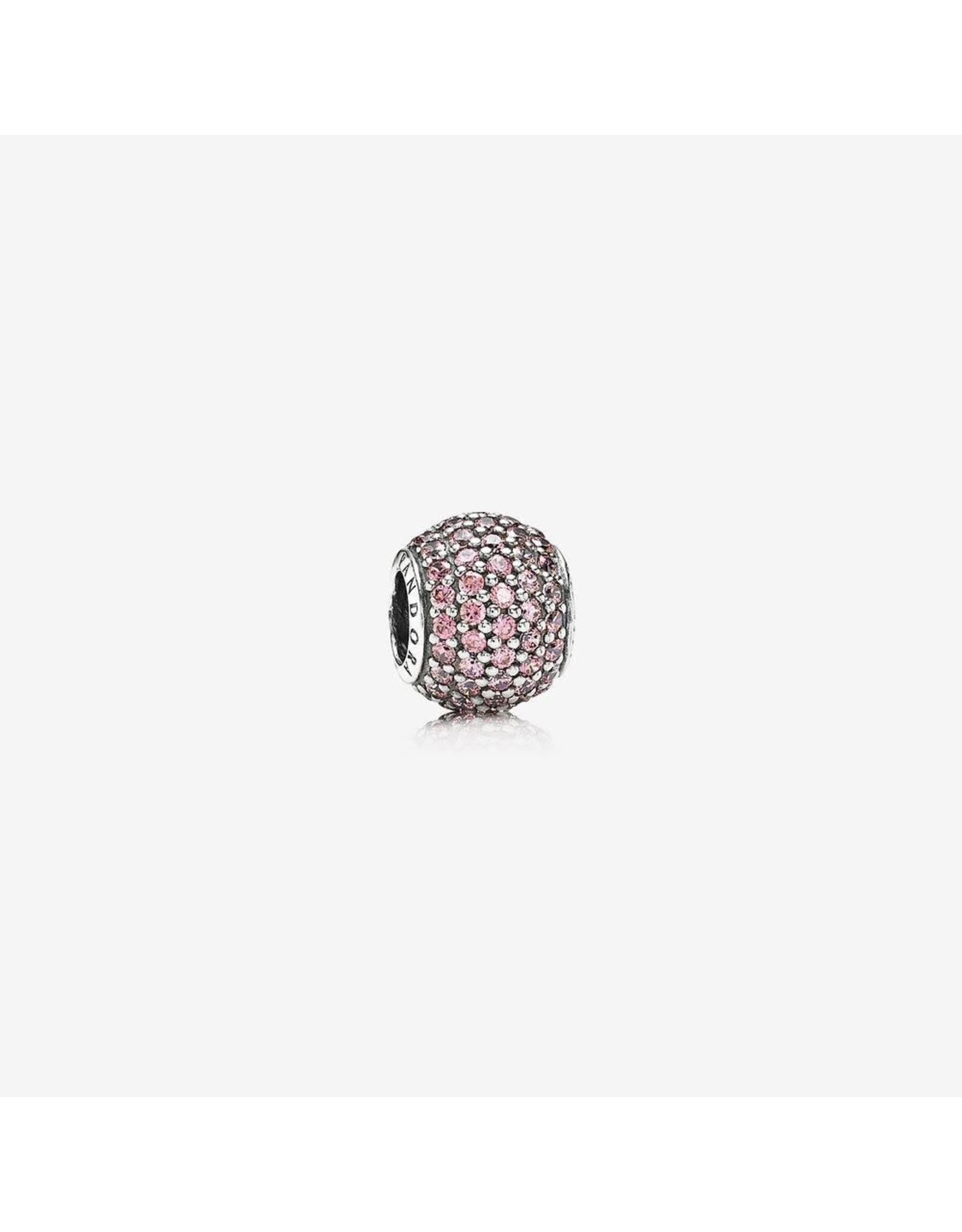 Pandora Pandora Charm, Pave Lights, Fancy Pink CZ