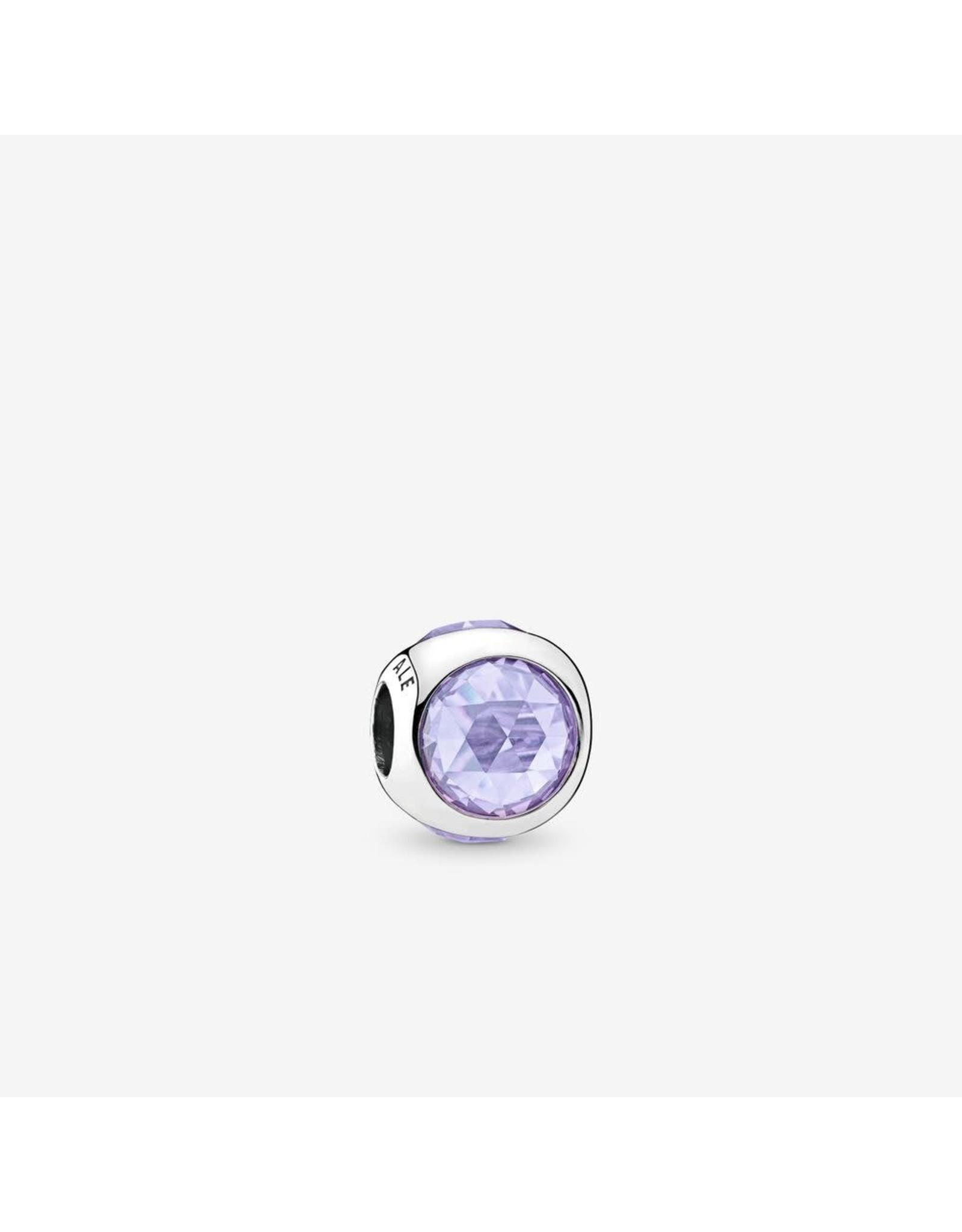 Pandora Pandora Charm, Radiant Droplet, Lavender CZ
