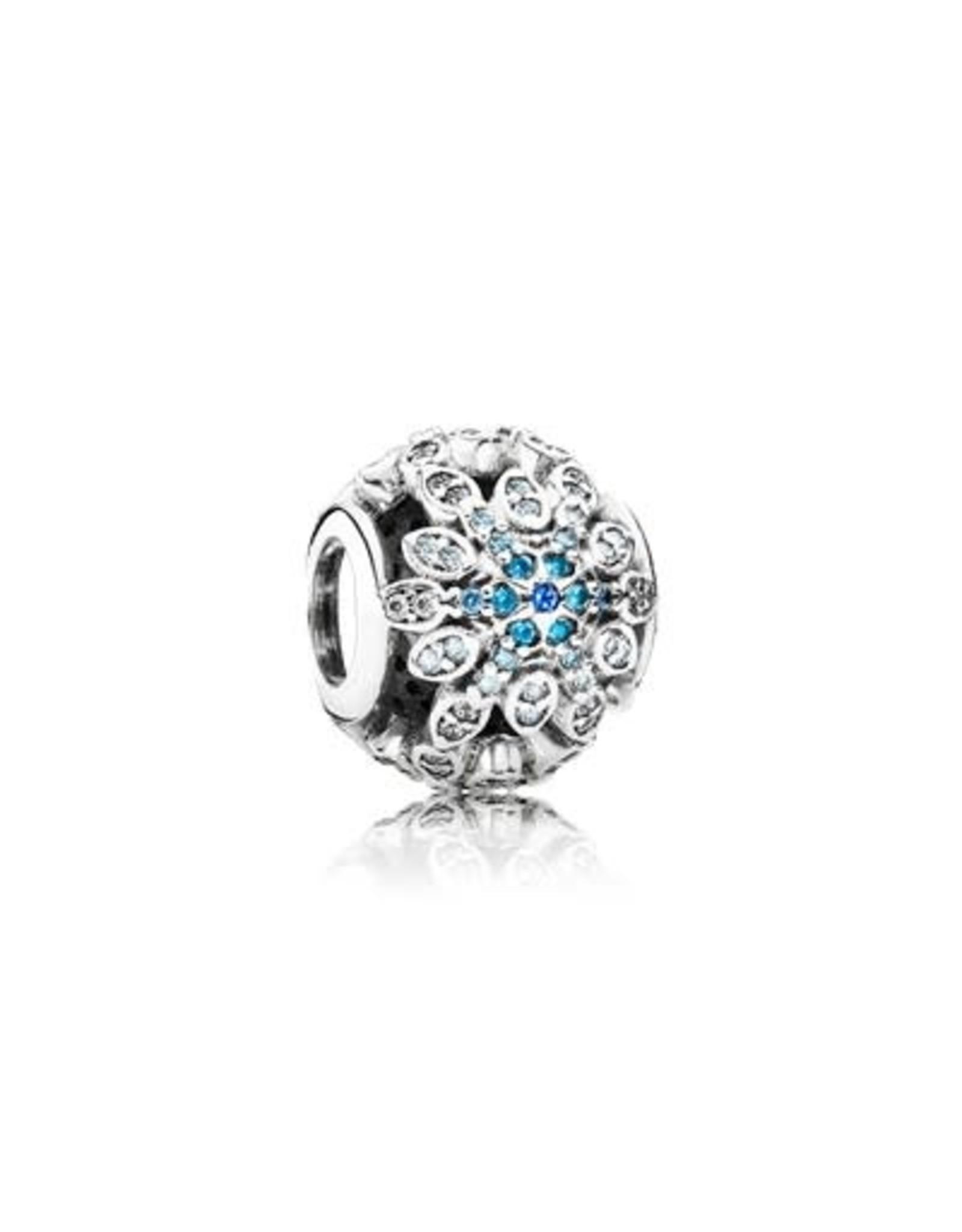 Pandora Pandora Charm, Crystalized Snowflakes, Blue Crystals & Clear CZ