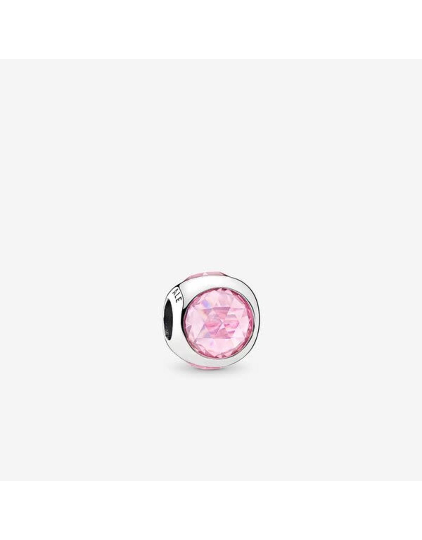 Pandora Pandora Charm,Radiant Droplet, Pink CZ
