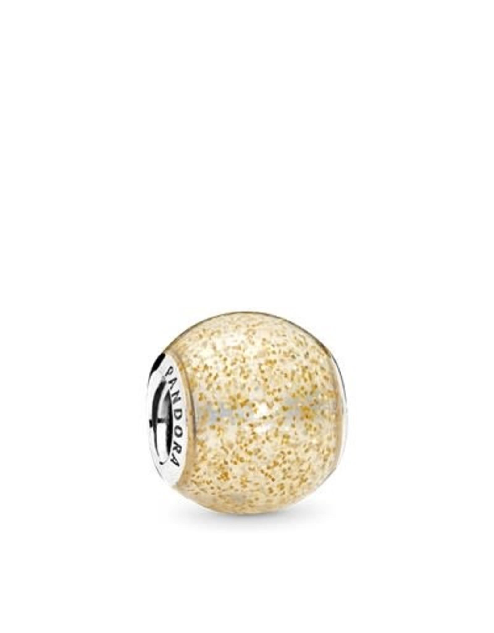 Pandora Pandora Charm, Glitter Ball, Golden Glitter Enamel