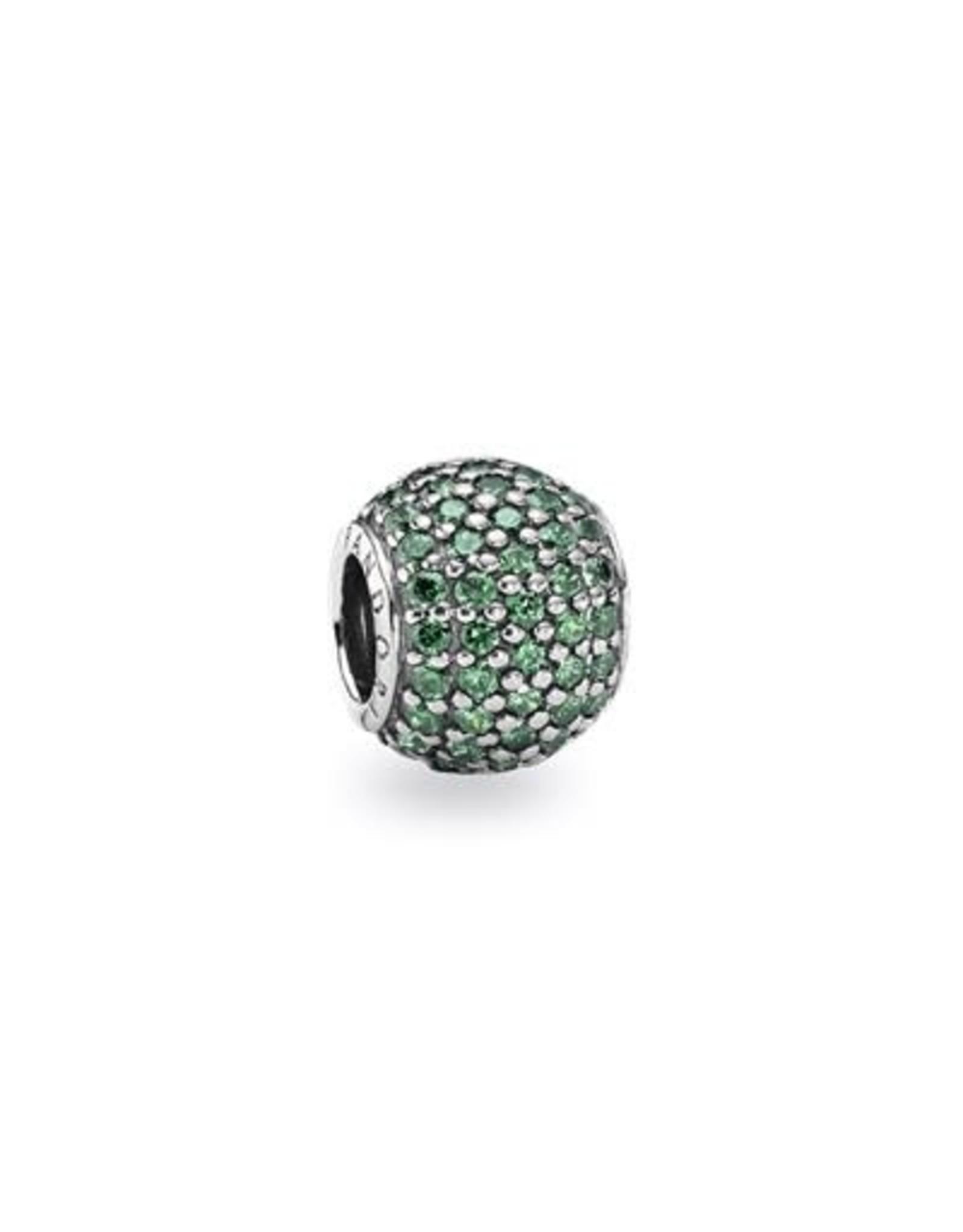 Pandora Pandora Charm,Pave Lights, Dark Green CZ