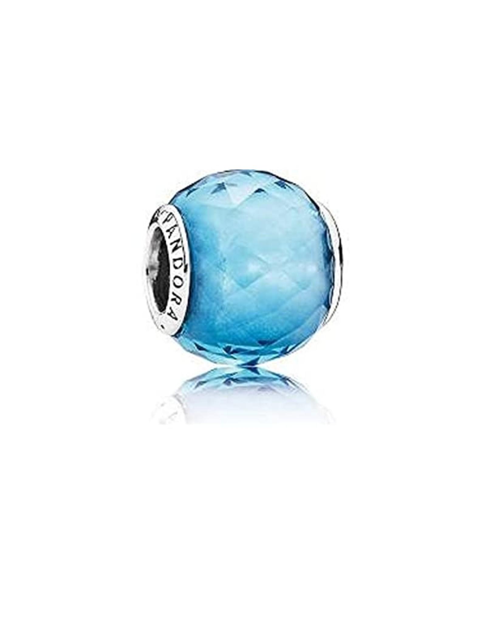 Pandora Pandora Charm,Geometric Facets, Sky-Blue Crystal