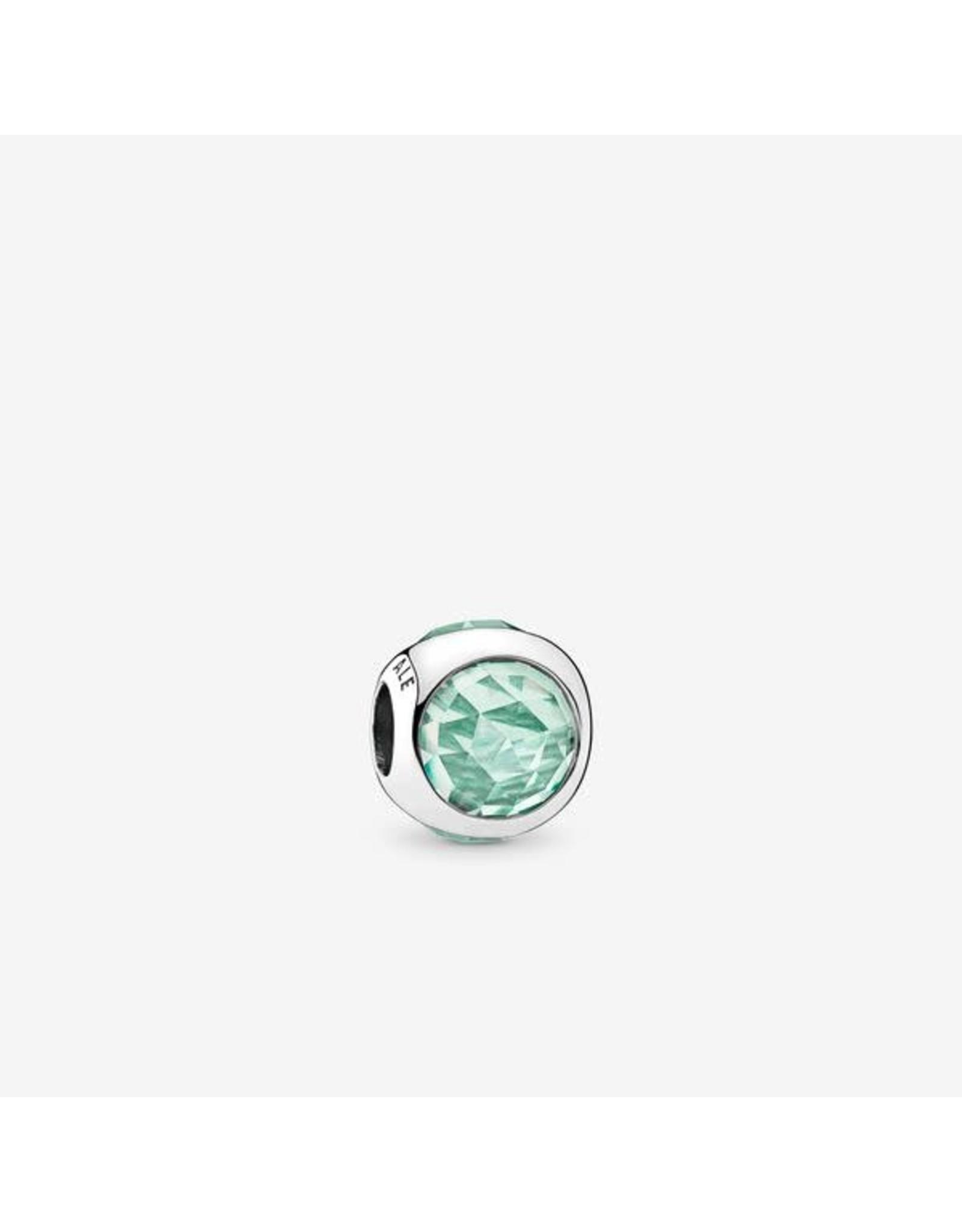 Pandora Pandora Charm,Radiant Droplet, Icy Green Crystals