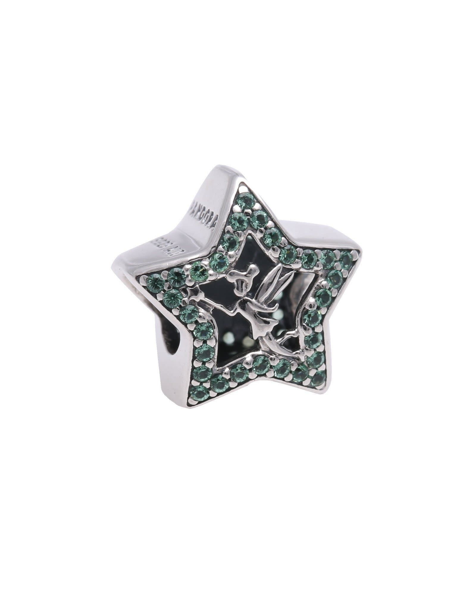 Pandora Pandora Charm,Disney Tinker Bell Star, Pale Green Crystals