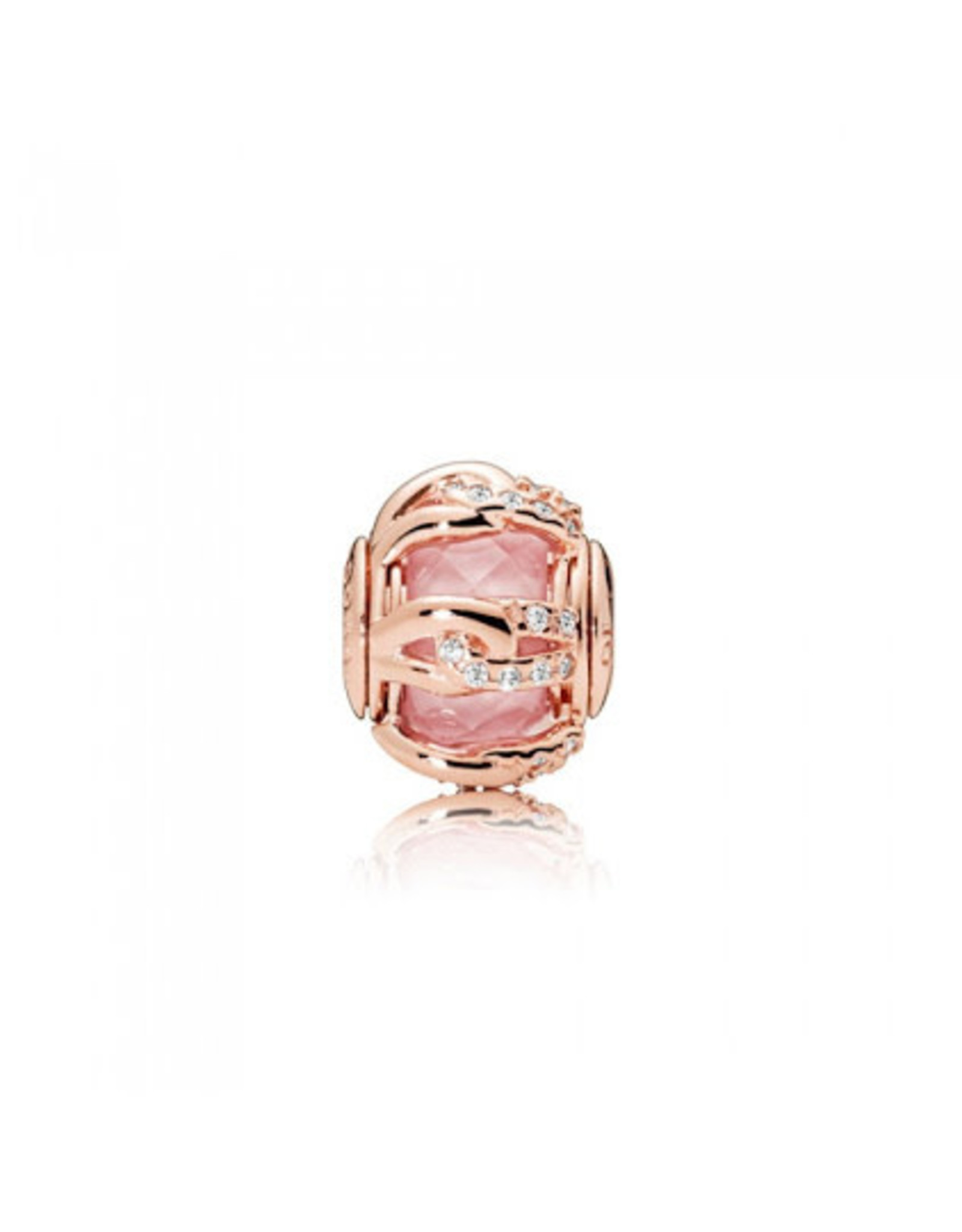 Pandora Pandora Essence Charm, Rose Gold, Bonds Of Love, Pink Crystal