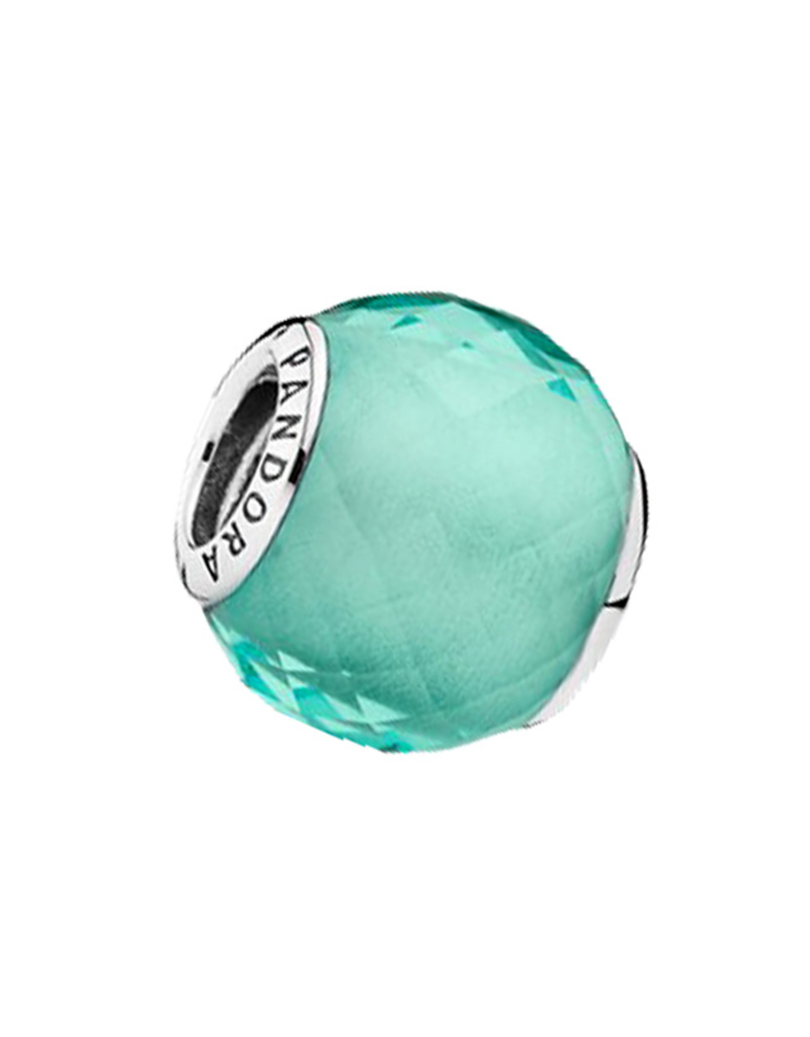 Pandora Pandora Charm, Petite Facets, Synthetic Green Quartz
