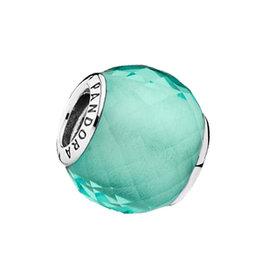 Pandora Pandora Charm, Petite Facets, Synthetic Green Quartz