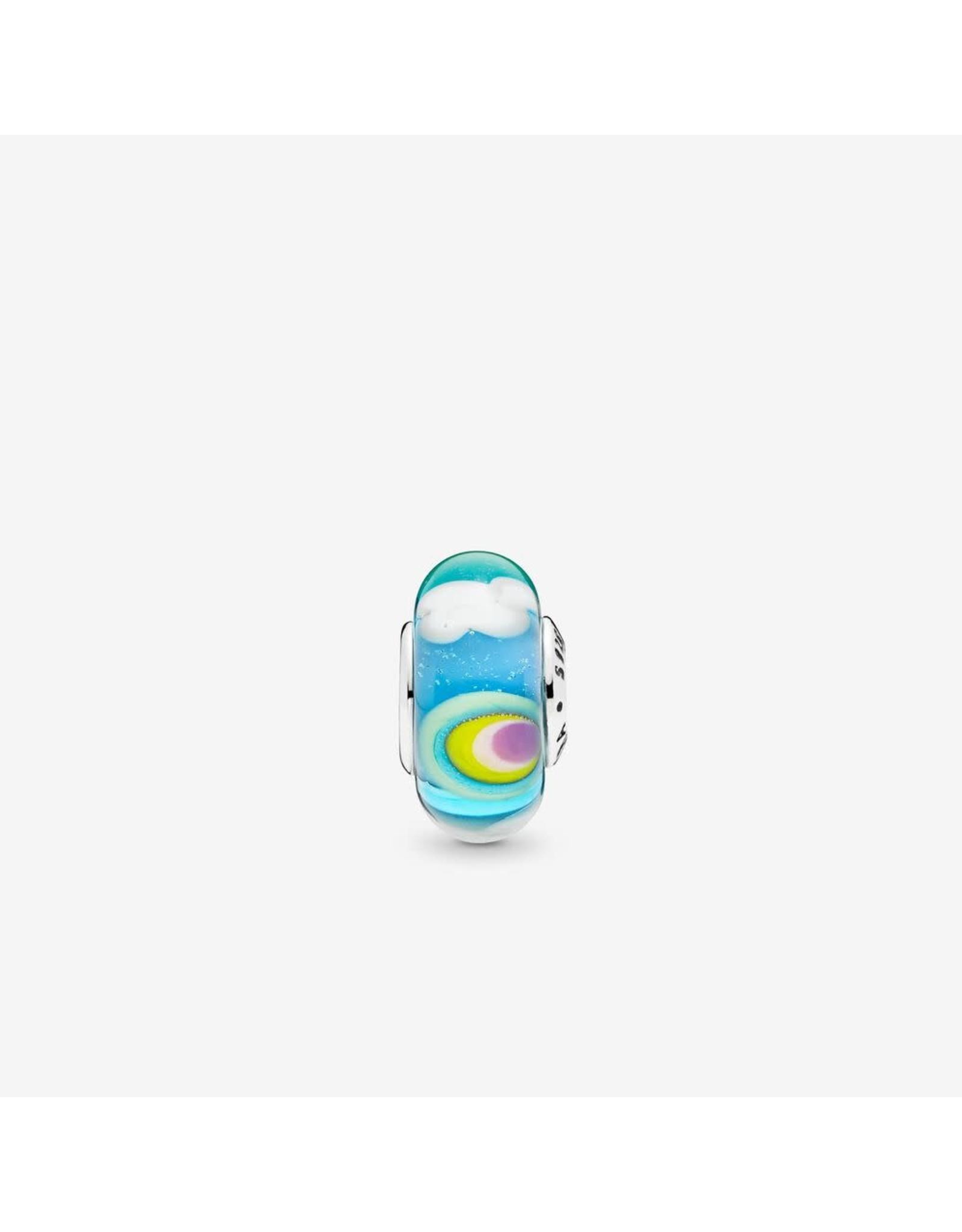 Pandora Pandora Murano Charm, Iridescent Rainbow Glass