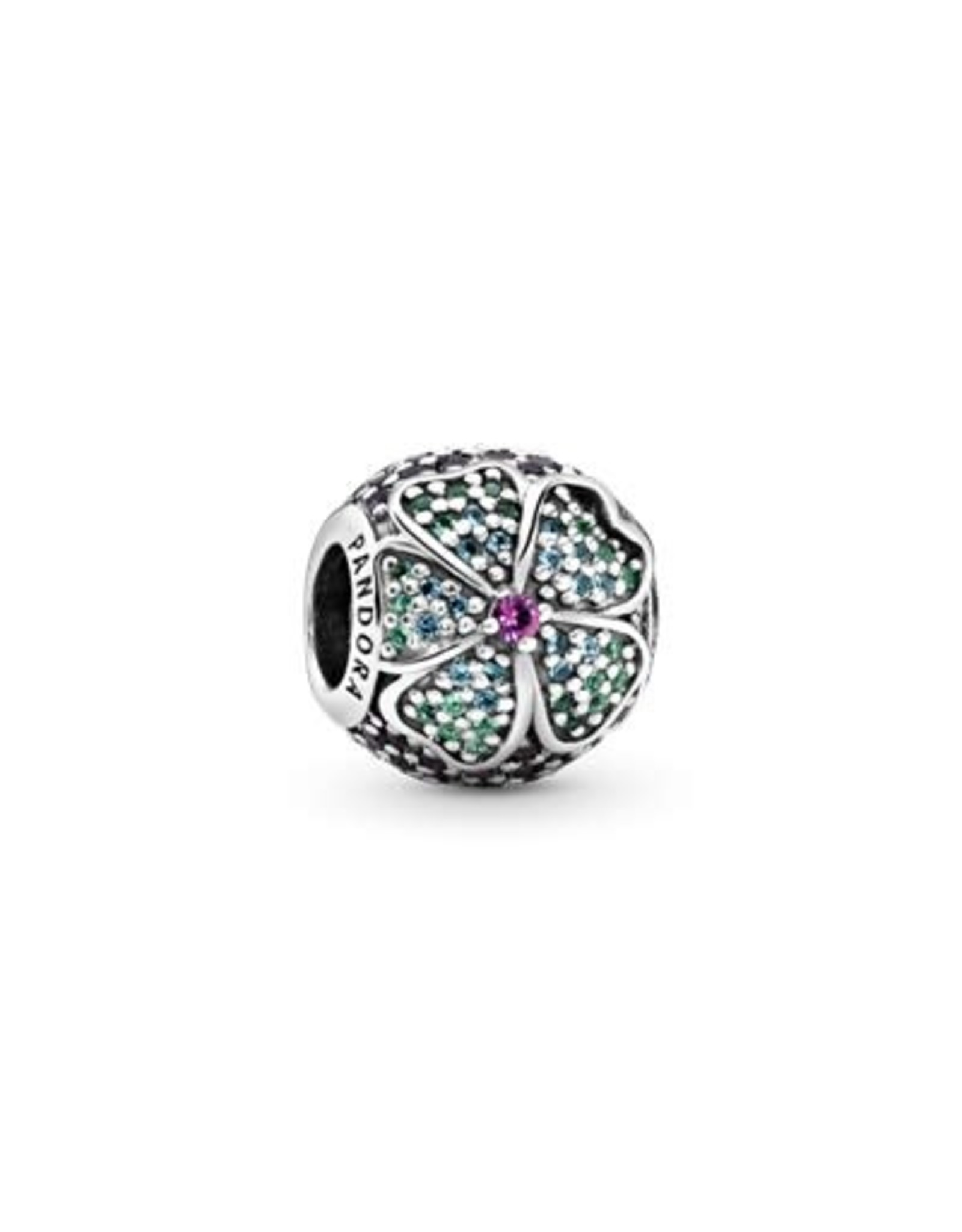 Pandora Pandora Charm, Glorious Blooms, Multi-Colored Crystals