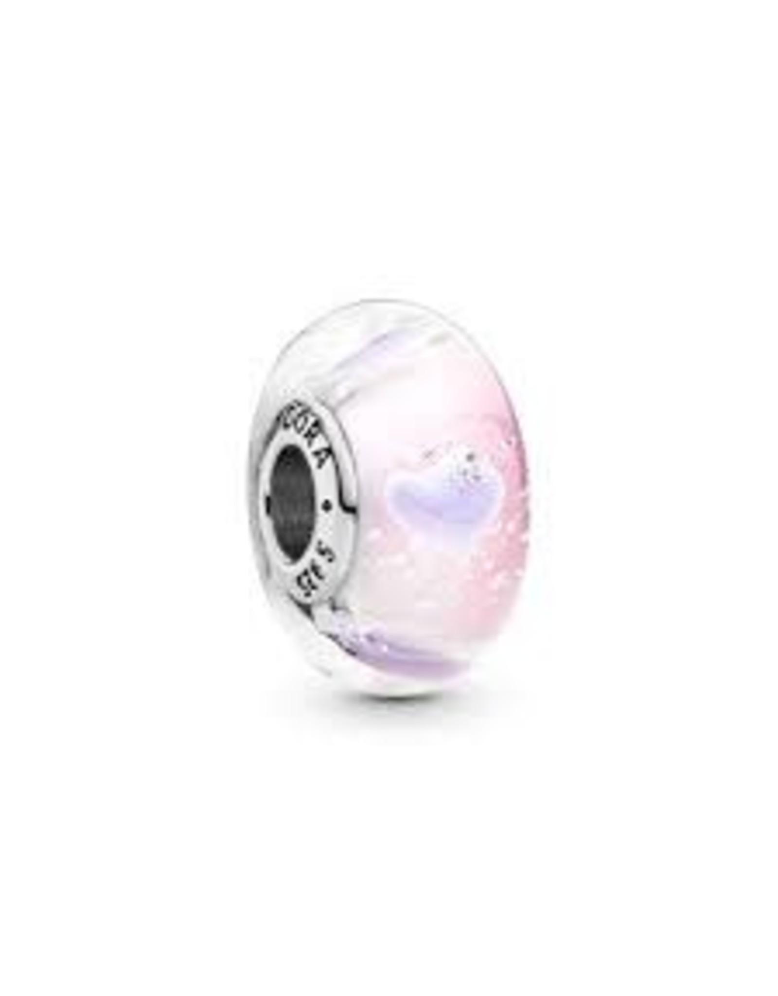 Pandora Pandora Murano Charm, Purple Hearts Glass