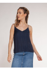 Dex Deep V-Neck Jaquard Tank Top