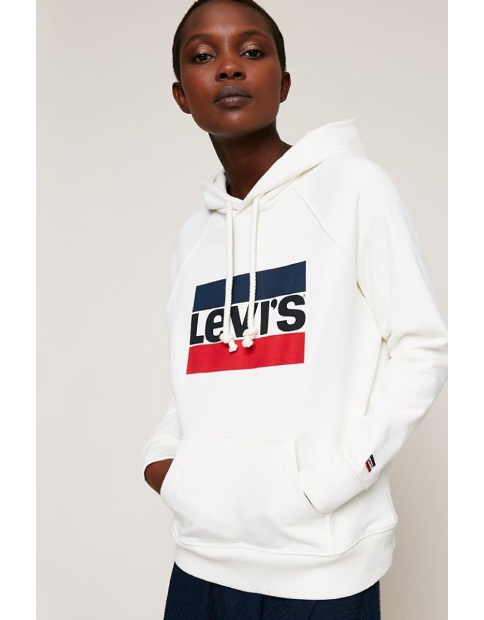 Levi's Hoodie Sport White Large