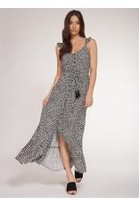 Dex Black Maxi Dress Daisies Print