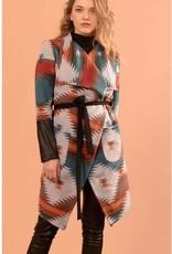 Joelle Emma Woodlands Teal Coat