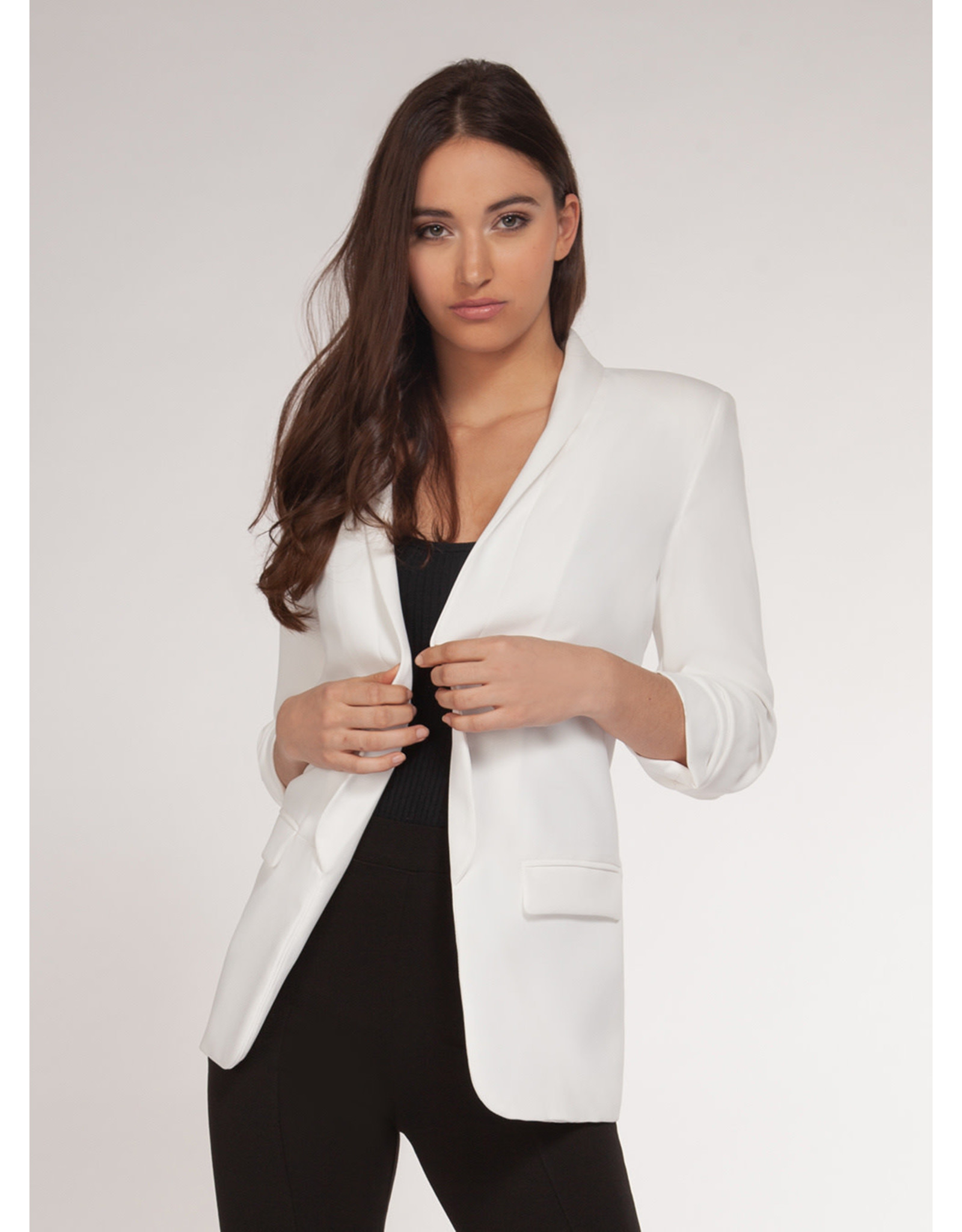 Dex Blazer Open White