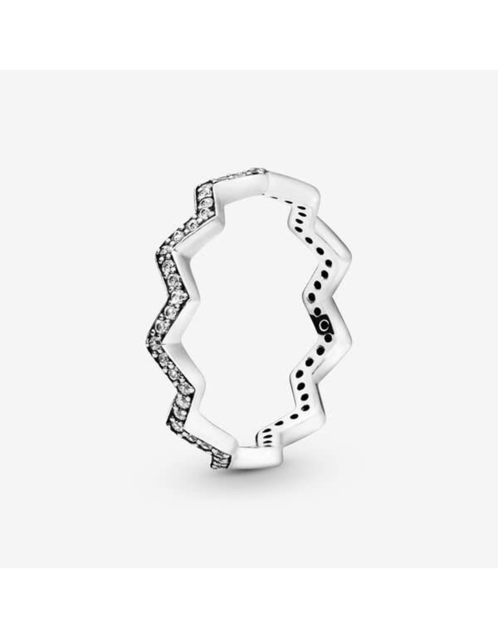 Pandora Pandora Ring,(197751CZ) Shimmering Zigzag,Clear CZ