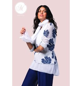 M Made In Italy Tunic Combo White