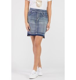 Tribal  Pull On DeNim Skirt